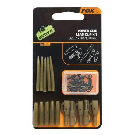 Fox Power grip lead clip thrans khaki készlet