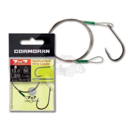 Cormoran 7x7 Wire Leader drótelőke 50 cm 13Kg Horog: 2/0
