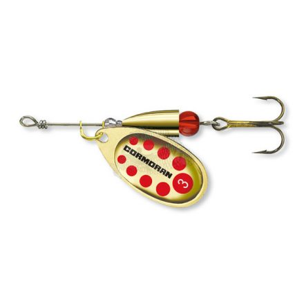 KÖRFORGÓ VILLANTÓ Cormoran Bullet Longcast  #2 (4 gr) Arany/Piros pöttyös