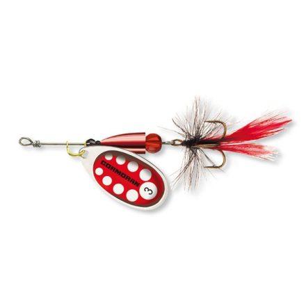 KÖRFORGÓ VILLANTÓ Cormoran Bullet Longcast  #1 (3,2 gr) Ezüst/Piros léggyel