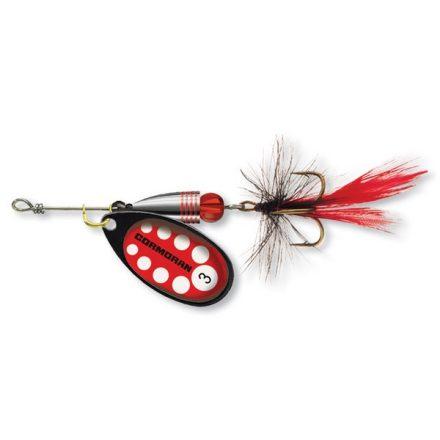 KÖRFORGÓ VILLANTÓ Cormoran Bullet Longcast  #1 (3,2 gr) Fekete/Piros léggyel