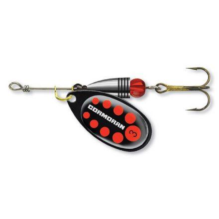 KÖRFORGÓ VILLANTÓ Cormoran Bullet Longcast  #4 (12,5 gr) Fekete/Piros pöttyös