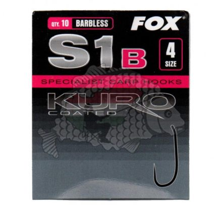 HOROG Szakáll nélküli Fox Kuro S1 Szakáll nélküli horog Méret: 4