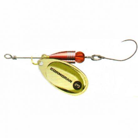 KÖRFORGÓ Cormoran Bullet Longcast egyágú horoggal (Arany, 4 gr)