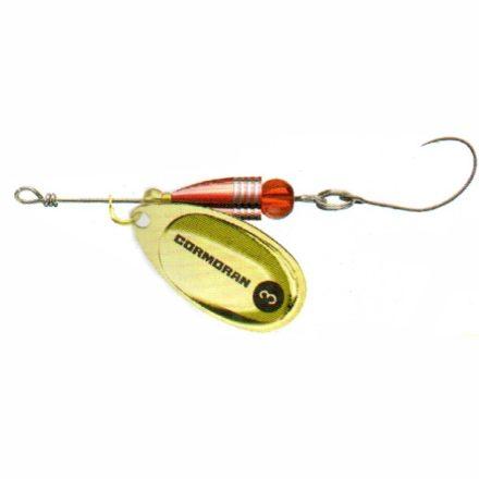 KÖRFORGÓ Cormoran Bullet Longcast egyágú horoggal (Arany, 7 gr)