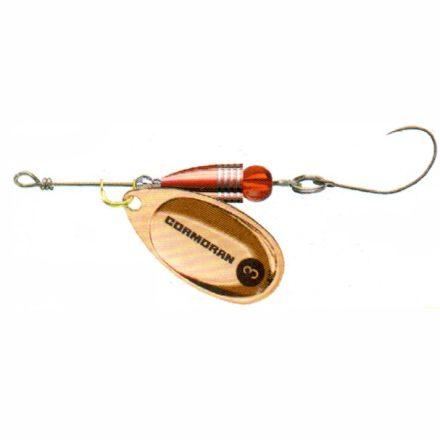 KÖRFORGÓ Cormoran Bullet Longcast egyágú horoggal (Réz, 4 gr)