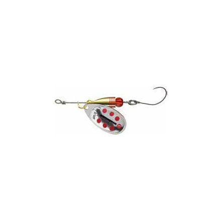 KÖRFORGÓ Cormoran Bullet egyágú horoggal (Ezüst/piros pöttyös, 7gr)